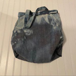 Vintage Bags - Tie Dye Vintage Denim Tote Bag Purse Hippy Retro